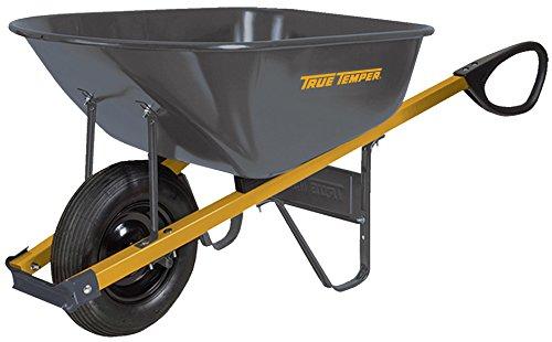 True Temper R6TC14 Total Control Steel Wheelbarrow, 6-Cubic Foot Capacity