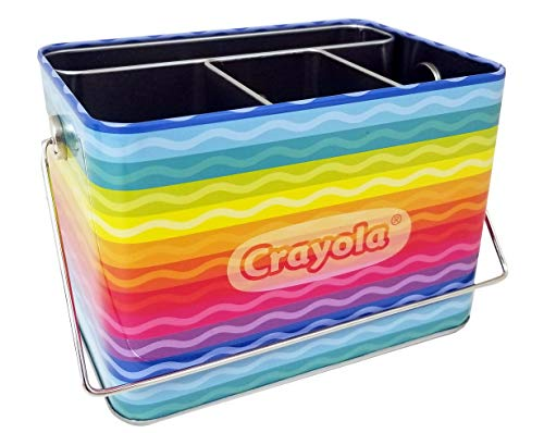 Crayola Caddy Organizer Tin with Handle (Empty)