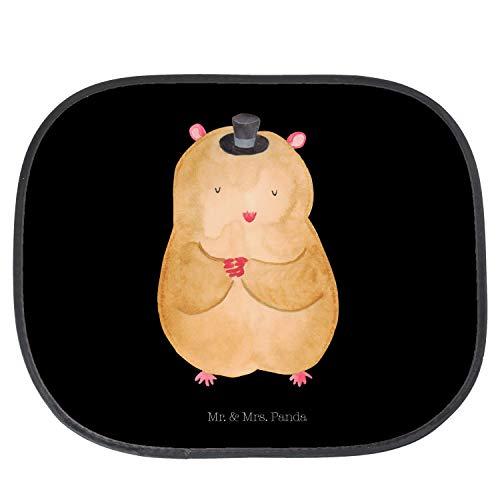 Mr. & Mrs. Panda PKW, Sonnenblende, Auto Sonnenschutz Hamster mit Hut - Farbe Schwarz