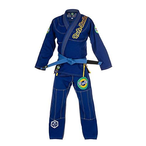 Role Bonito Kimono de Jiu-Jitsu Brasileño para Hombre (BJJ Gi) Ligero en Azul (Talla A2)