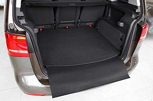 tuning-art 2925 Kofferraummatte für VW Touran 2 5T 2015-2-teilig mit Ladekantenschutz