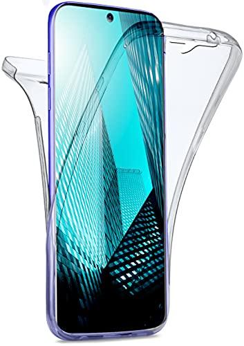 moex Double Hülle für Samsung Galaxy S20 Ultra / 5G Hülle Silikon Transparent, 360 Grad Full Body R&um-Schutz, Komplett Schutzhülle beidseitig, Handyhülle vorne & hinten - Klar