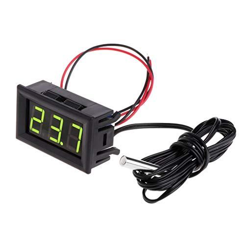 Fogun -50~110 ° c DC 12 v Digital LED Thermometer Auto Temperaturanzeige Panel Meter (Grün)