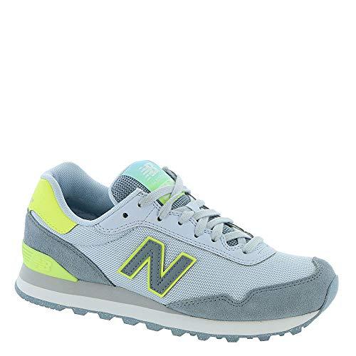 New Balance WL515 - Zapatillas deportivas para mujer (talla 8), color gris y lima