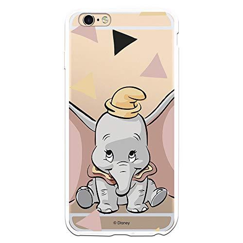 Funda para iPhone 6 Plus - 6S Plus Oficial de Dumbo Dumbo Silueta Transparente para Proteger tu móvil. Carcasa para Apple de Silicona Flexible con Licencia Oficial de Disney.