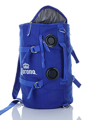 Corona Insulated Cooler Backpack with Built-in Bluetooth Speakers,Lightweight Durable Design Ergonomic Camping & Beach Cooler Backpack (CJHP010) Blue