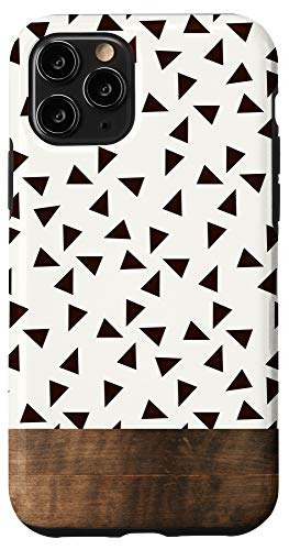 iPhone 11 Pro Boho Triangle Pattern Minimalistic Geometric Polka Dot Case
