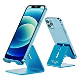 Desk Cell Phone Stand Holder Aluminum Phone Dock Cradle Compatible with Switch, All Android Smartphone, for iPhone 12 11 Pro Xs Xs Max Xr X 8 7 6 6s Plus 5 5s 5c, Accessories Desk (Blue)