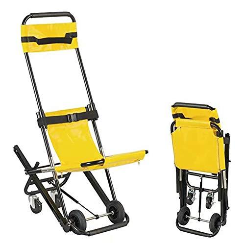 Silla de escalera plegable EMS - Silla de escalera ligera de aluminio 350 lb de capacidad Bombero Evacuación de emergencia Silla de transporte de elevación médica