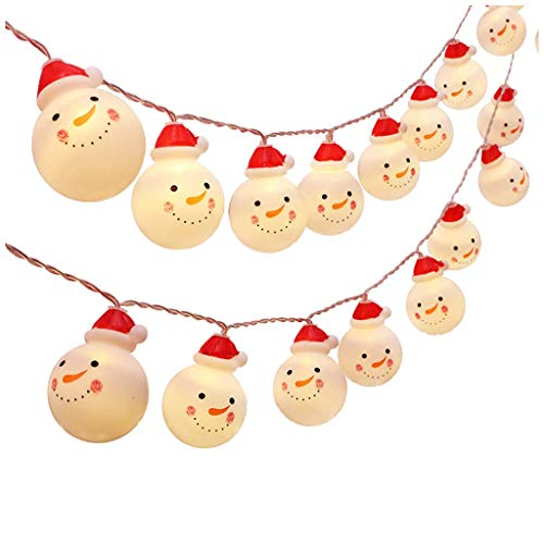 YUE LED Snowman String, Christmas Snowman String Lights Starry Light Fairy String Lights, For Indoor Outdoor Christmas Party Xmas Tree Decor, Battery-Powered 1.2M / 2.5M / 5M (1.2M)