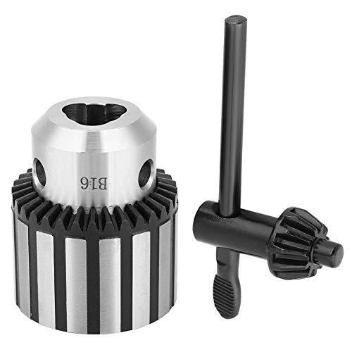 Portabrocas de 3 mm - 16 mm, portabrocas de trabajo pesado B16 con llave de portabrocas para taladro de banco de torno