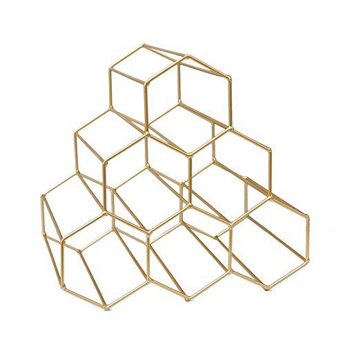 ZCYY Roségold Weinregal, 6 Flaschen freistehendes Weinregal Hexagon Modern Design Weinregal Schrank Haushaltswaren Weinregal