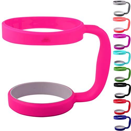 30oz Tumbler Handle (PINK) by STRATA CUPS - Available For 30oz YETI Tumbler, OZARK TRAIL Tumbler, Rambler Tumbler- BPA FREE