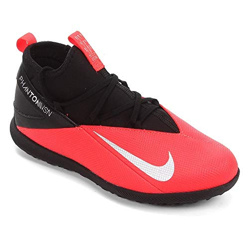 Nike CD4079-606, Zapatillas de fútbol, Laser Crimson/Metallic Silver-Black, 30 EU