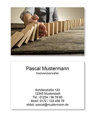 250 Visitenkarten Business Karten 85 X 55 Mm 350g Qm Design Vk101