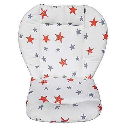 Cojín universal para cochecito/capazo/cochecito/silla de paseo, algodón, suave, transpirable