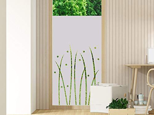 GRAZDesign Fensterfolien Streifen - Glasfolie - Folien für Glastüren - Küchenfenster Folie/Motiv: Wiese Natur für Wohnzimmer / 60x80cm Breite x Höhe
