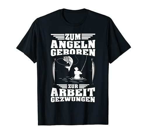 Angler T-Shirt Lustig Arbeit Fisch Shirt für Angler Geschenk T-Shirt
