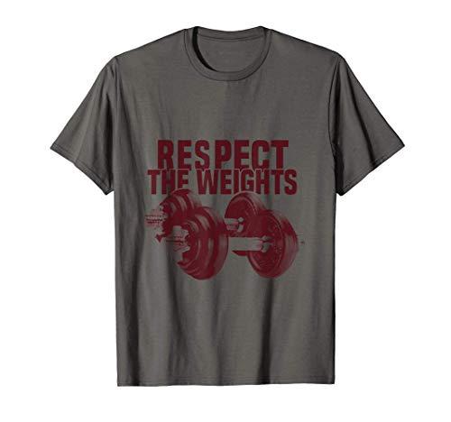 Respektiere die Gewichte, Bodybuilding Motivation T-Shirt