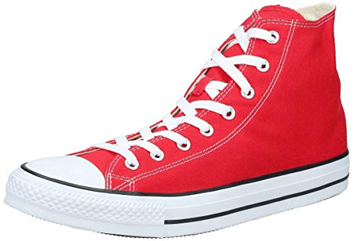 Converse Chuck Taylor All Star, Unisex-Erwachsene Hohe Sneakers, Rot (Red), 45 EU
