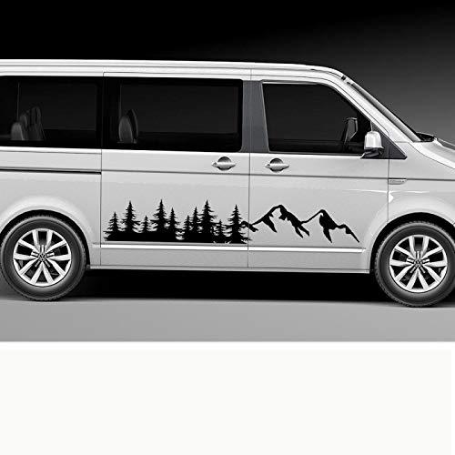 Rtyuiop Pegatinas Laterales para Puerta de Coche, para Volkswagen VW Multivan Transporter...