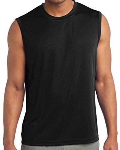 Yoga Clothing For You Mens Sleeveless Moisture Wicking Tee, 3XL Black