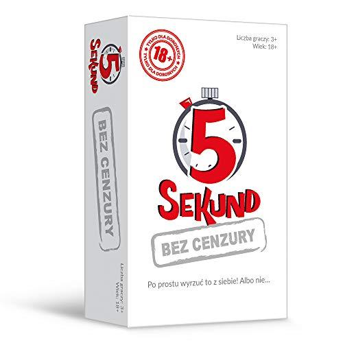 Trefl, 5 Sekund Bez Cenzury, Dynamiczna Gra Dla Dorosłych, Karty z Pytaniami, Czasomierz, Zabawne Pytania, Towarzyskie Spotkanie, Integracja, Impreza, Gra dla Osób od 18 Lat