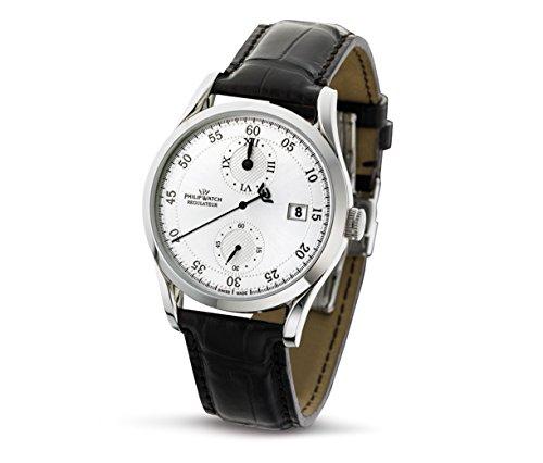 Philip Watch R8221180015 - Reloj cronógrafo automático para hombre, correa de cuero...