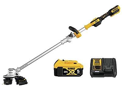 DEWALT DCST922P1 Black & Decker Lawn Trimmer BRUSHLESS W/5AH PK 20V, Yellow/Black