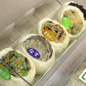 【クール配送】南屋手作りおやき 5個入(冷凍、野沢菜・なす・あんこ・キャベツ・大根)
