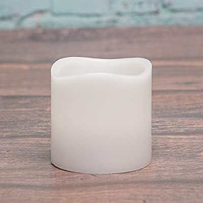 Richland Wavy Top Flameless LED Pillar Candle White