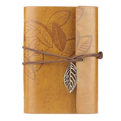 Chenhan Diario Notebook Cubierta de Cuero Vintage Cuaderno Diario en Blanco Diario Retro Pirate Design Papel Cuaderno Libro Reemplazable Traveler Bloc de Notas Papelería Suministros Cuaderno