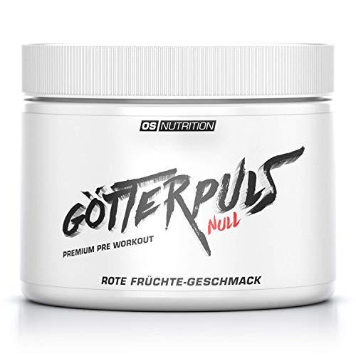 OS NUTRITION Götterpuls NULL Premium Pre Workout (koffeinfrei) Rote Früchte 300g