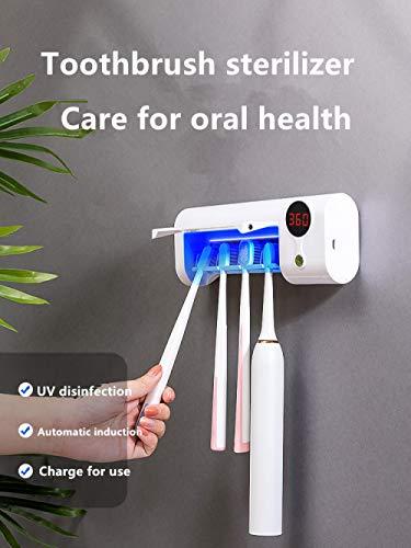 Tandenborstel UV-sterilisatorrek Opbergrek Automatisch Wandmontage Antibacterieel Afneembaar Multifunctioneel Draagbaar Ontsmettingsmiddel Badkamer Desinfectie -UV-sterilisator