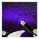 LPL Estilismo de Coche DIRIGIÓ Techo Estrella Noche luz proyector atmósfera Galaxia lámpara USB Lámpara Decorativa Ajustable Múltiples Efectos de iluminación (Emitting Color : Blue)