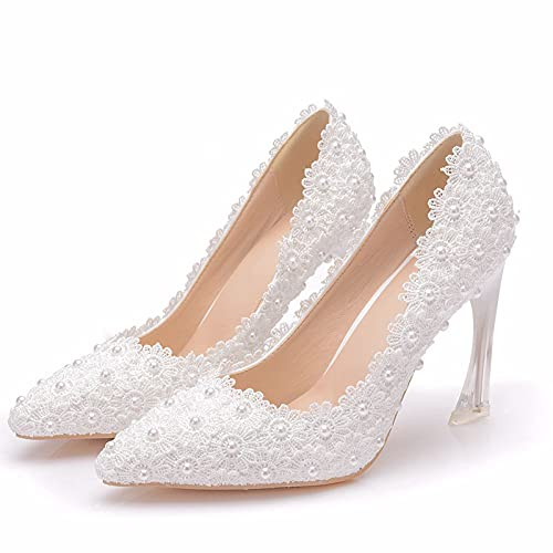 Zapatos De Boda Mujer Novia,Zapatos De Latino Baile,Tacones Altos Stiletto Puntiagudos De...
