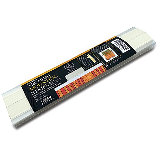 Lineco See-Thru Mounting Strips 12 inch 60ct