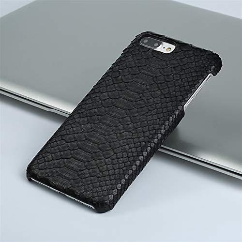 YLFC Funda De Piel para iPhone, Funda De Lujo Suave Y Táctil para iPhone X XS XR 5S 6 7 8 8plus SE 2 2020 (Color : Black, Size : For iPhone 11)