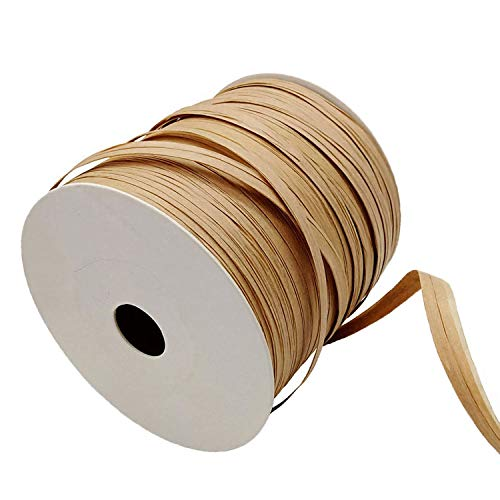 Kbraveo 1/3' X 273 Yards Raffia Paper Twine Matte Raffia Ribbon,Craft Packing Paper for Gift Wrap and Decoration