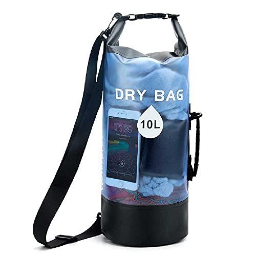 N\C Bolsa Impermeable De PVC Transparente Bolsa Impermeable De Pesca a La Deriva Al Aire Libre Bolsa De Playa Bolsa Impermeable Al Aire Libre Almacenamiento 10L/ Azul