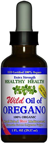 Oregano Oil - Wild Mediterranean - ECO Certified Organic Extra Strength 83% Carvacrol, Healthy-Health's All Natural Food Grade Oil of Oregano, Non GMO 1 fl. Oz