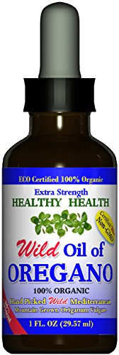 """Extra Strength"" Wild Mediterranean Turkish 100% Eco Certified Organic Oil of Oregano 83% Carvacrol"
