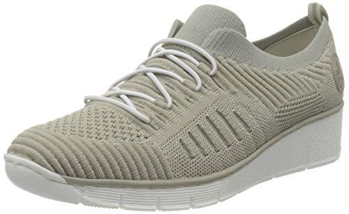 Rieker Damen Frühjahr/Sommer 537B5 Sneaker, Beige (Cameo-Silver/Ice 62), 41 EU