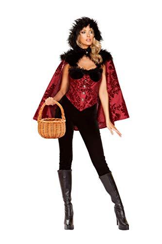 Roma Costume Little Dark Red Black/red Womens Party Costume - 4pc, Medium