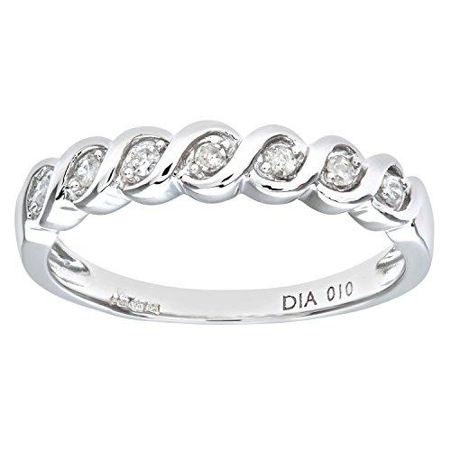 Naava Damen-Ring 375 Weißgold 7 Tansanit 9 Karat Gr. 54 (17.2) PR07018W(N)