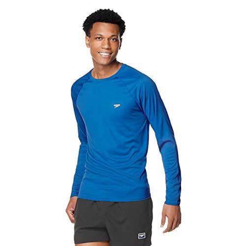 Speedo UV Swim Shirt Easy Long Sleeve Regular Fit Maglietta Rash Guard, Mare Turco, L Uomo