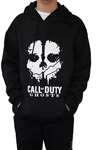 Moniku Call-Duty Skull Ghosts Zip Up Hooded Sweater (Medium) Black