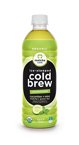 Matcha Love Cold Brew Cucumber Mint Matcha Green Tea 15.9 Ounce bottles (Pack of 12), Unsweetened