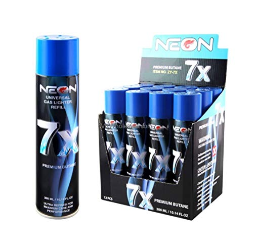 Neon 7X Refined Butane Gas 300ml 6 Pack