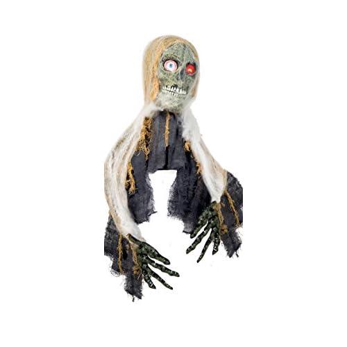Boland- Decorazione Zombie Grabber con Luci Suono e Movimento, Beige/Grigio, 55x38 cm, 73002